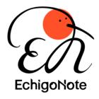 エチゴノート イベント販売主画像
