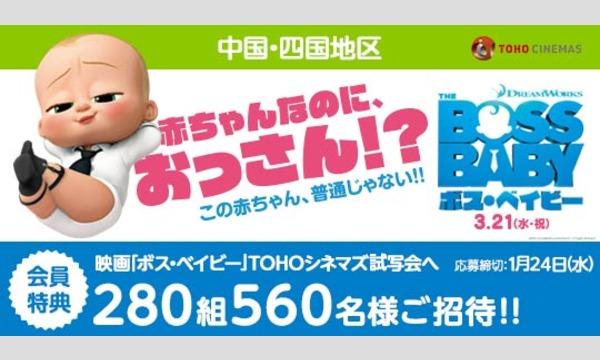 08.【中国・四国地区】映画「ボス・ベイビー」試写会にご招待!