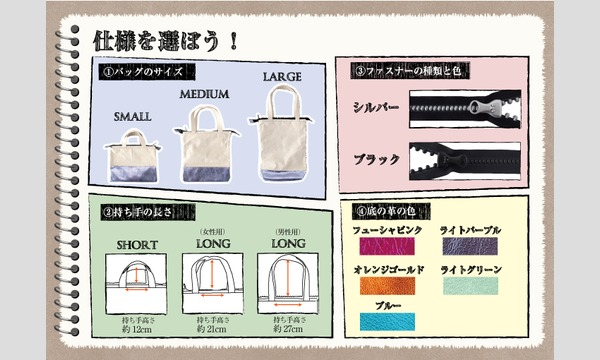 ワークショップ「帆布と本革のカスタマイズバッグを作ろう」(主催:ものづくり館 by YKK) イベント画像2