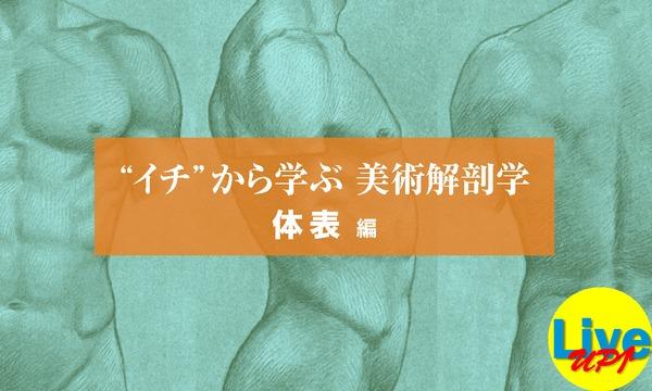 """【LiveUP】""""イチ""""から学ぶ 美術解剖学 体表編 全4回 イベント画像1"""