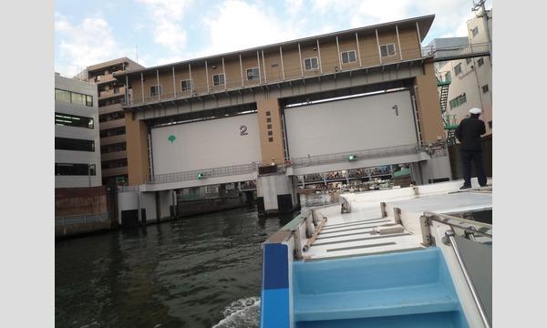 カワセミから見る亀島川水門と日本橋水門・江東治水事務所水門管理センター見学