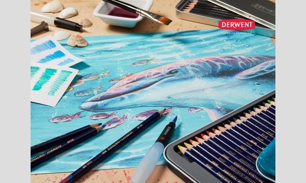 <イセタンイラストメッセ>うめざわりえ「水彩色鉛筆インクテンスで描く  オリジナル ランチトート」 イベント画像2