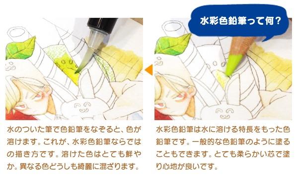 <イセタンイラストメッセ>黒澤カミマル「水彩色鉛筆でおかしを塗ろう!」 イベント画像3